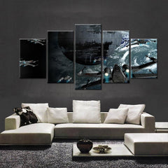5 Piece Star Wars Death Star Movie Canvas Painting Wall Art - It Make Your Day