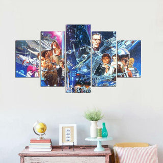 5 Piece Star Wars Movie Poster Canvas Painting Wall Art - It Make Your Day