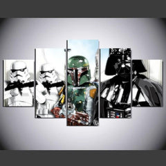 5 Piece Star Wars Poster Movie Canvas Painting Wall Art - It Make Your Day