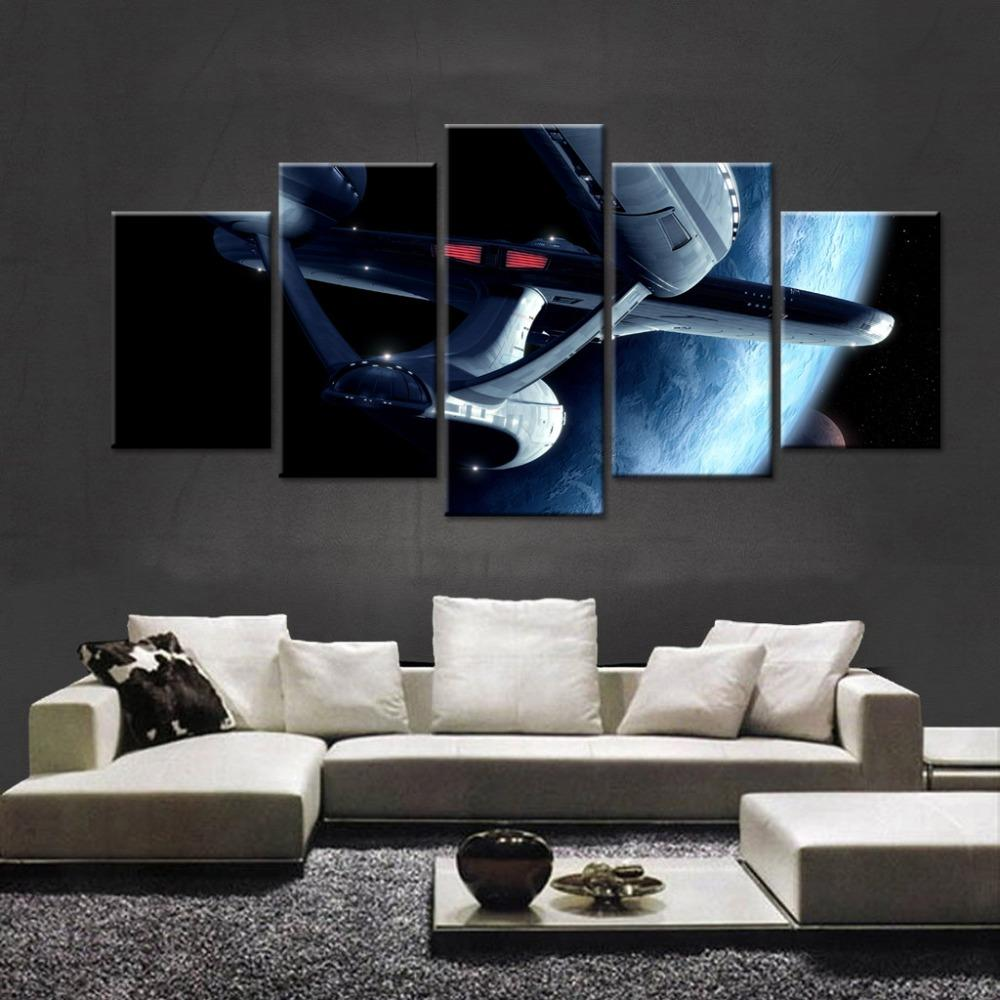 5 Piece Star Wars Starfighter Movie Canvas Painting Wall Art - It Make Your Day
