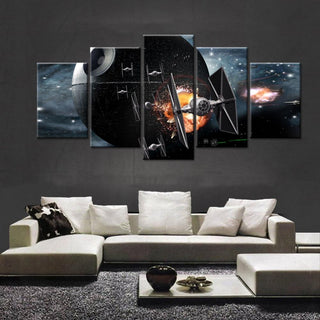5 Piece Star Wars TIE Fighter Movie Canvas Painting Wall Art - It Make Your Day