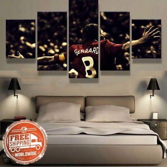 5 Piece Steven Gerrard Liverpool Legend Canvas Wall Art Paintings - It Make Your Day