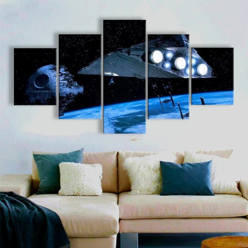 5 Piece The Dark Side Canvas Wall Art Paintings - It Make Your Day