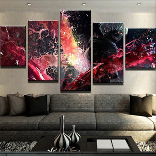 5 Piece Tokyo Ghoul Magic Canvas Wall Art Paintings - It Make Your Day