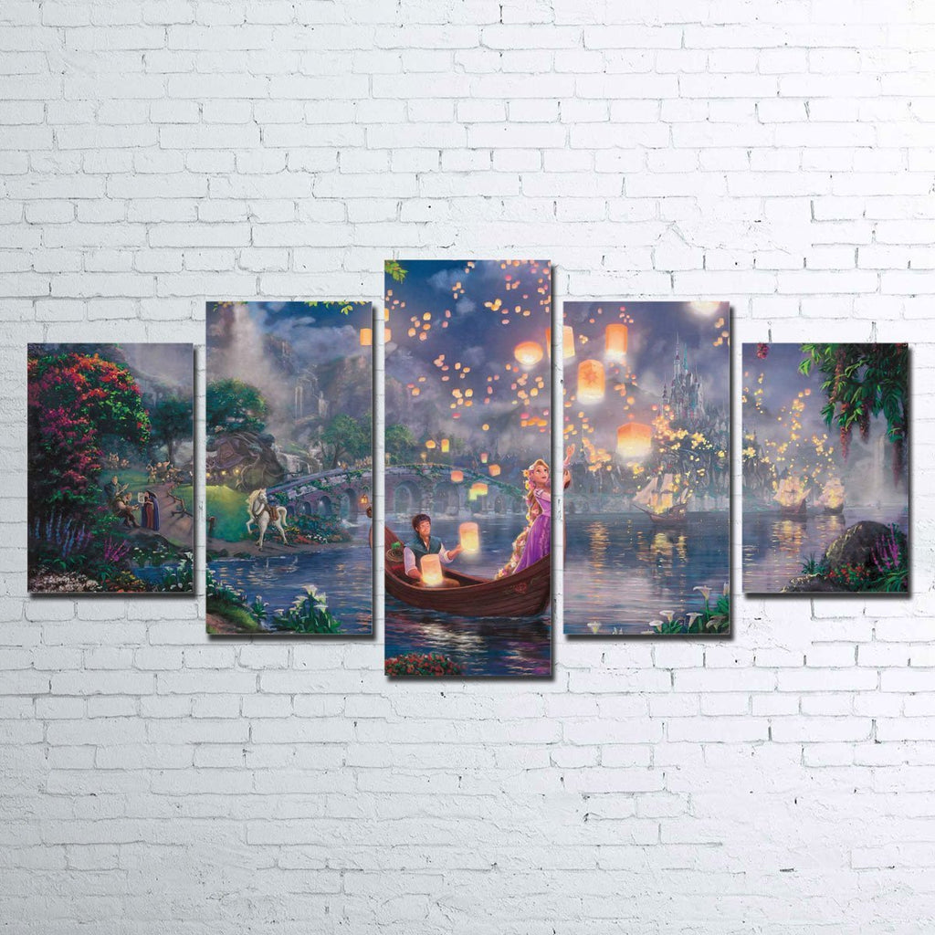 5 Piece Tangled Movie Canvas Painting Wall Art - It Make Your Day