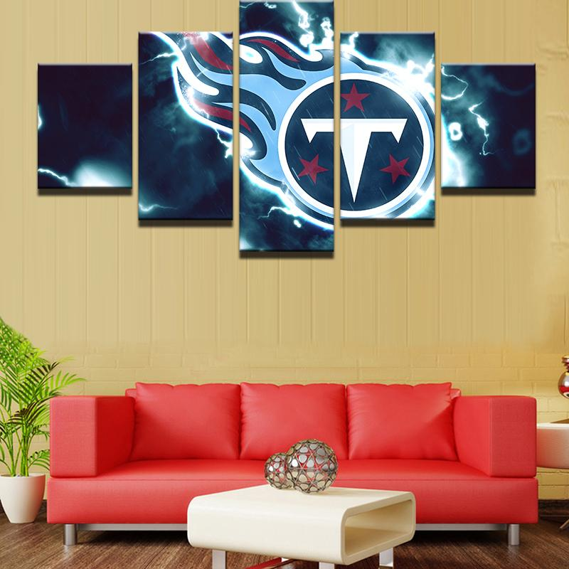 5 Piece Tennessee Titans American Football Canvas Painting Wall Art - It Make Your Day