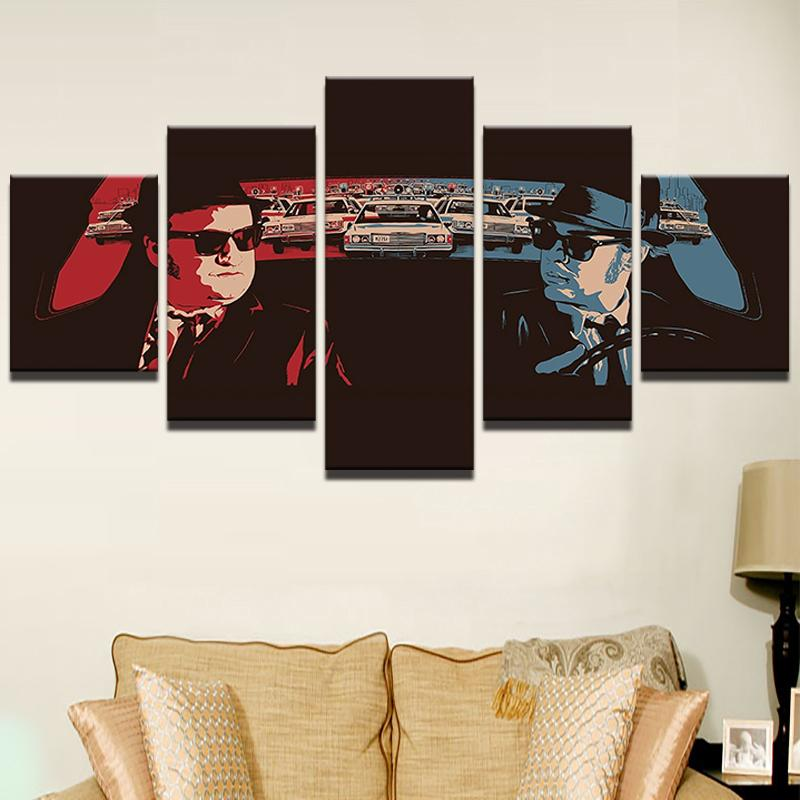 5 Piece The Blues Brothers Movie Canvas Wall Art Paintings For Sale ...