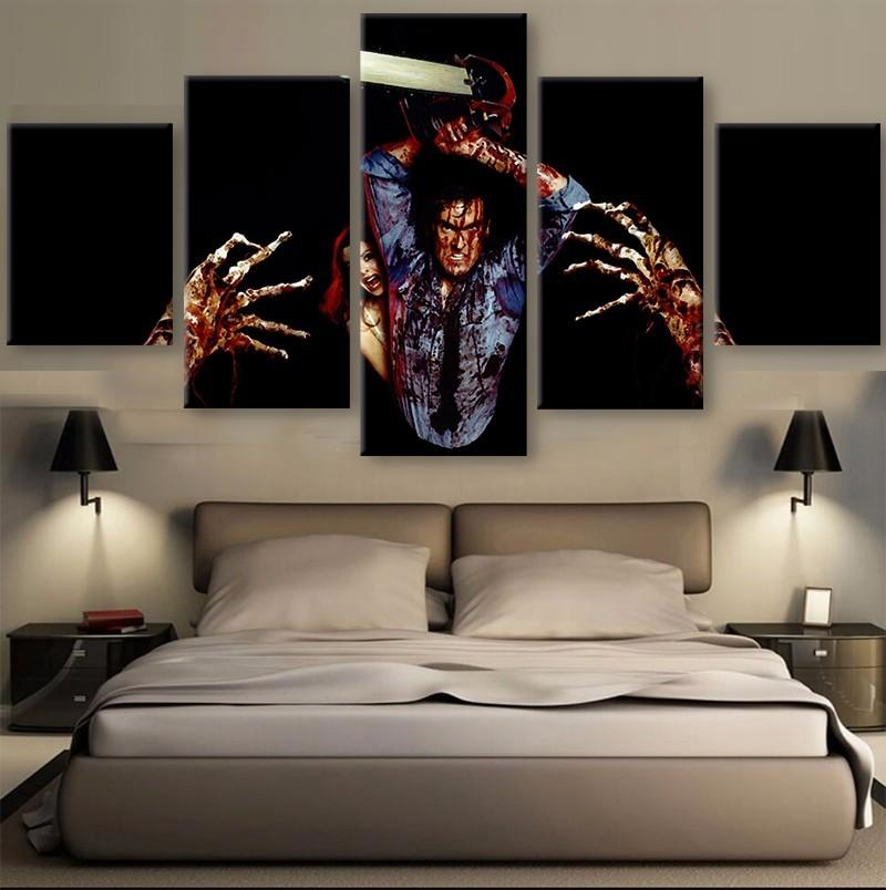 5 Piece The Evil Dead Characters Movie Canvas Painting Wall Art - It Make Your Day