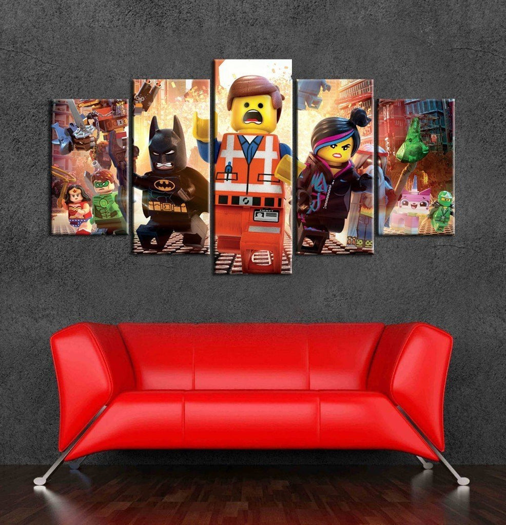 5 Piece The Lego Movie Characters Movie Canvas Painting Wall Art - It Make Your Day