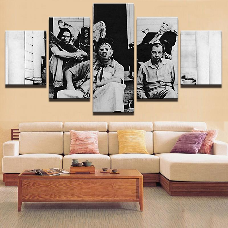 5 Piece The Sawyer Family Movie Canvas Painting Wall Art - It Make Your Day