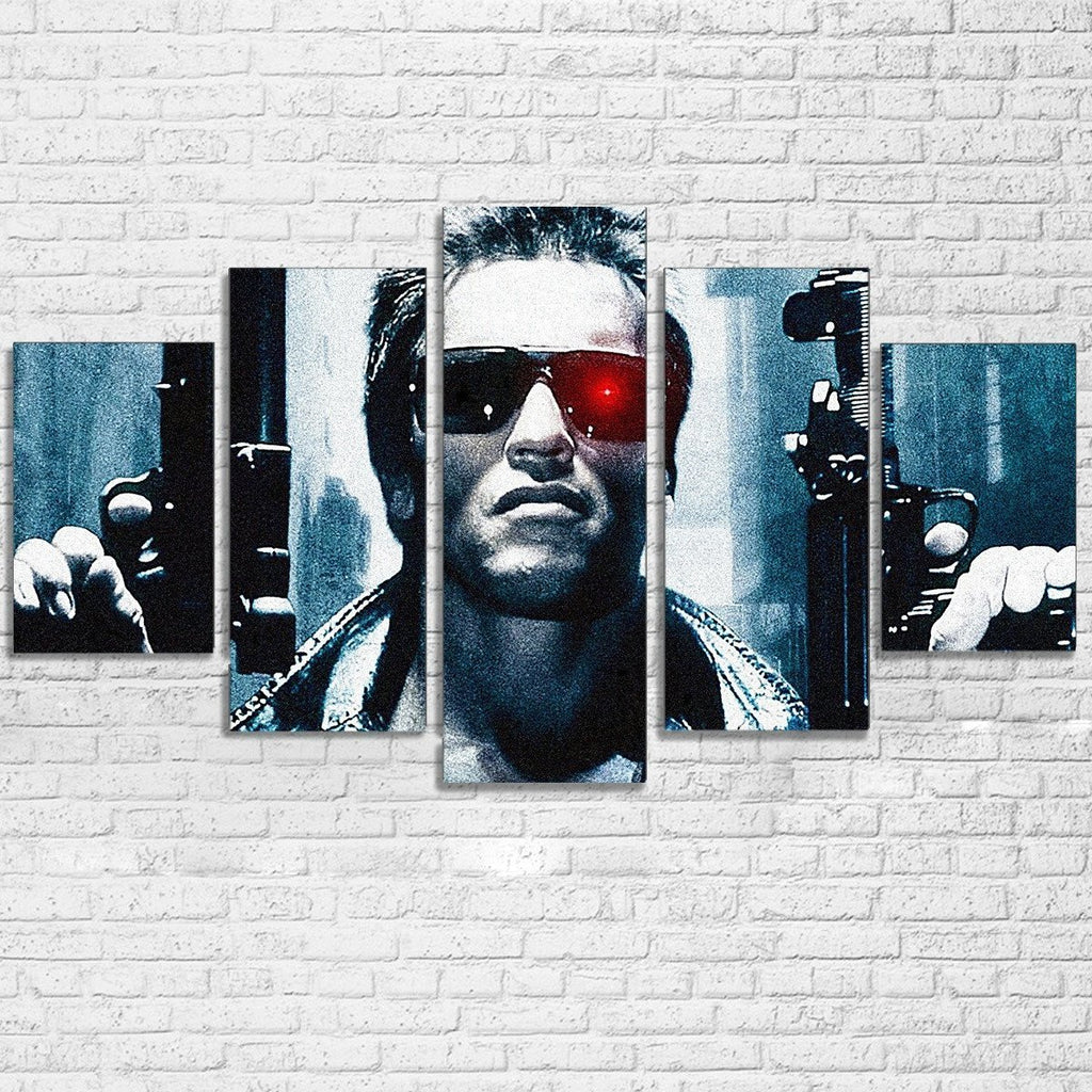 5 Piece The Terminator Movie Canvas Painting Wall Art - It Make Your Day