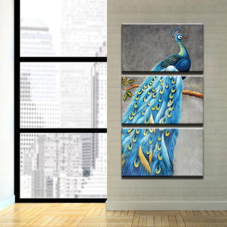 Framed 3 Piece The Ultimate Peacock Canvas - It Make Your Day