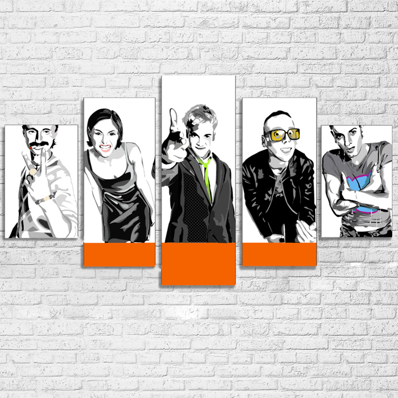 5 Piece Trainspotting Movie Canvas Painting Wall Art - It Make Your Day