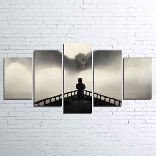 5 Piece Tyrion Dragon Game of Thrones Movie Canvas Wall Art Paintings - It Make Your Day