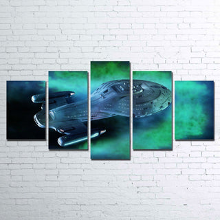 5 Piece Uss Voyager Movie Canvas Wall Art Paintings - It Make Your Day