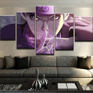 5 Piece Uzumaki Purple Canvas Wall Art Paintings - It Make Your Day