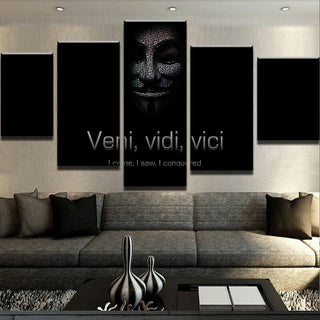 5 Piece Veni Vidi Vici Anonymous Canvas Wall Art Paintings - It Make Your Day