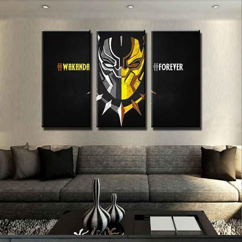 3 Piece Wakanda Forever Movie Canvas Wall Art Paintings - It Make Your Day