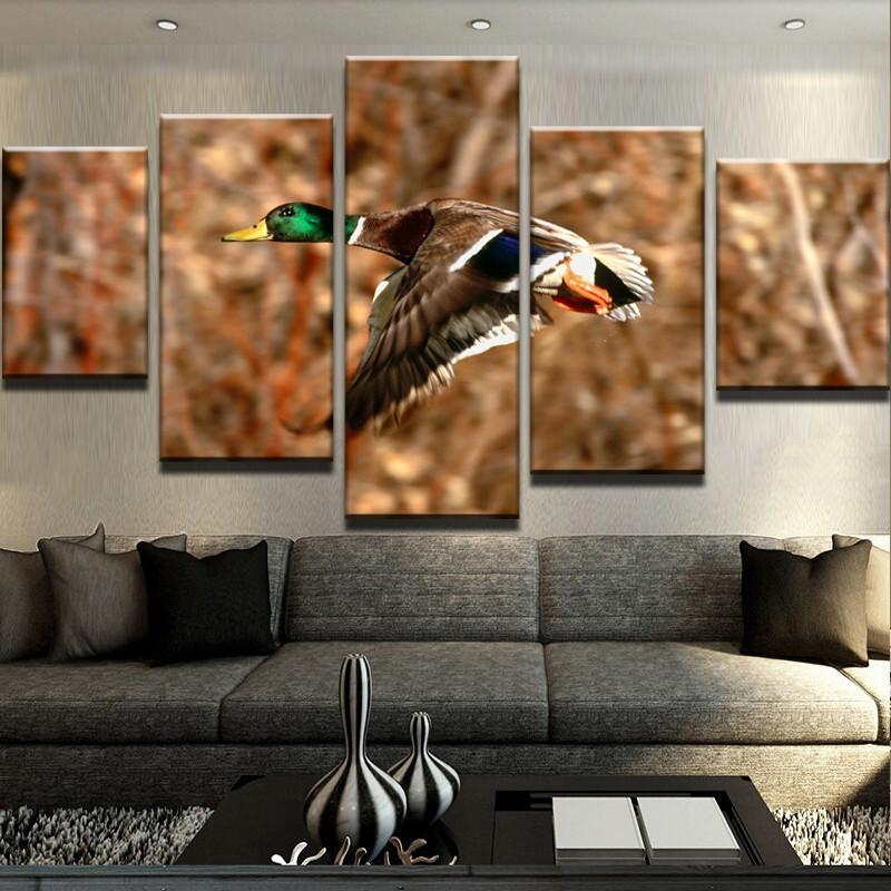 5 Peace Waterfowl Canvas Prints Wall Art Paintings - It Make Your Day