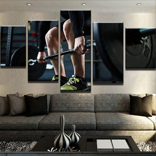 5 Piece Weight Lifting Fitness Canvas Wall Art Paintings - It Make Your Day