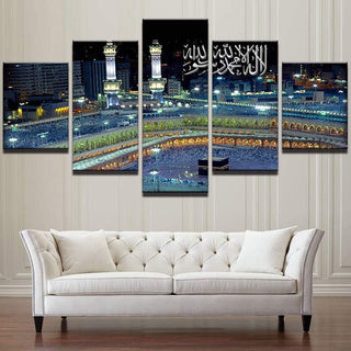 5 Piece Islamic Mosque Castle Landscape Canvas Wall Art Paintings - It Make Your Day