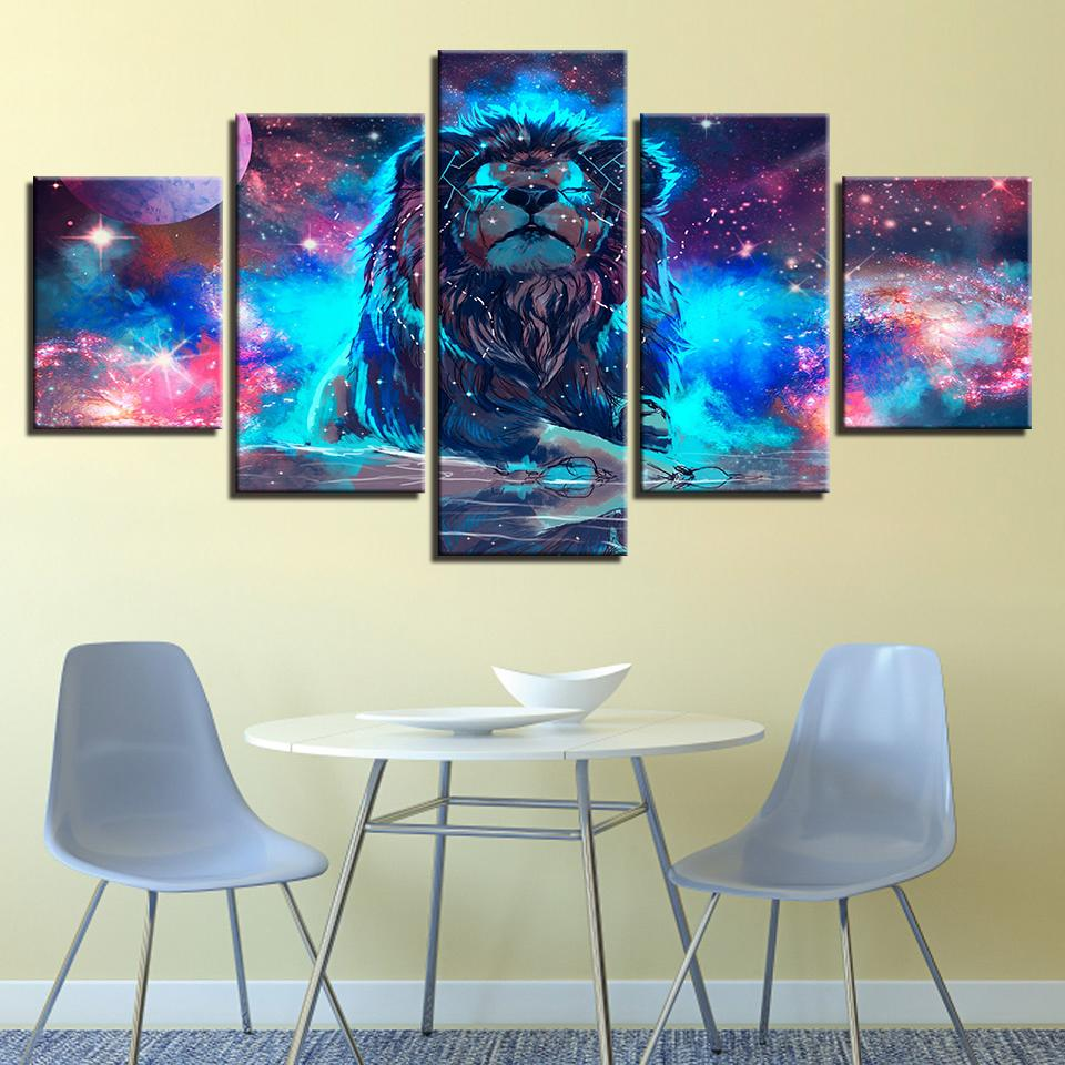 Color Abstract Nebula Lion Constellation - It Make Your Day