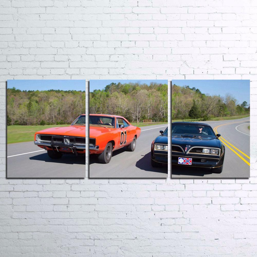 3 Piece Smokey And The Bandit Movie Sports Car Canvas - It Make Your Day