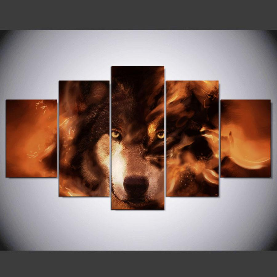 5 Pieces Siberian Husky Dog Canvas Wall Art - It Make Your Day