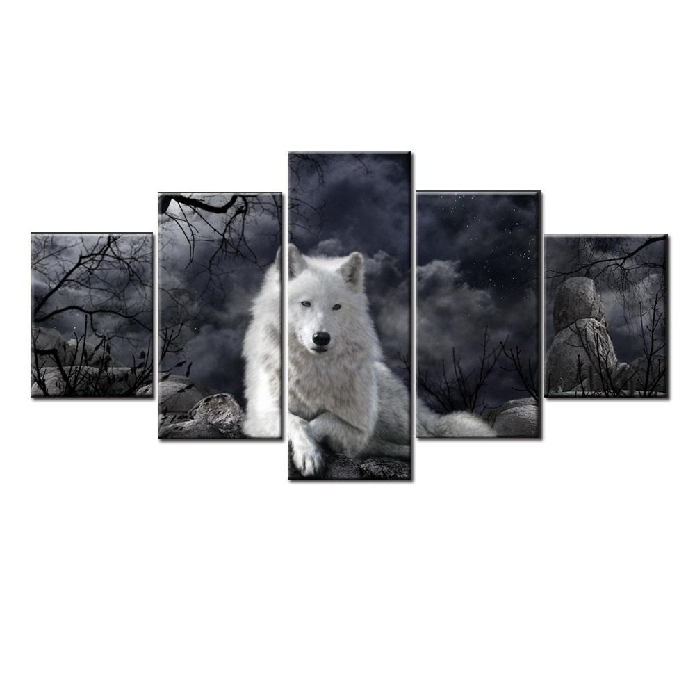 Black and White Modular Wolf - It Make Your Day