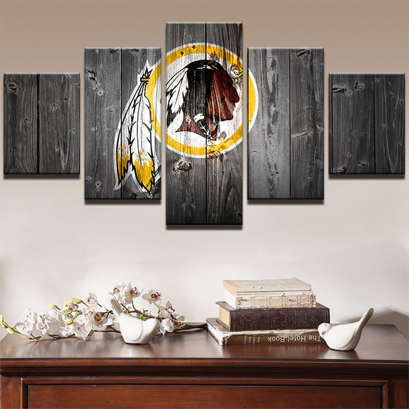 5 Piece Washington Redskins HD Printed Canvas Painting - It Make Your Day