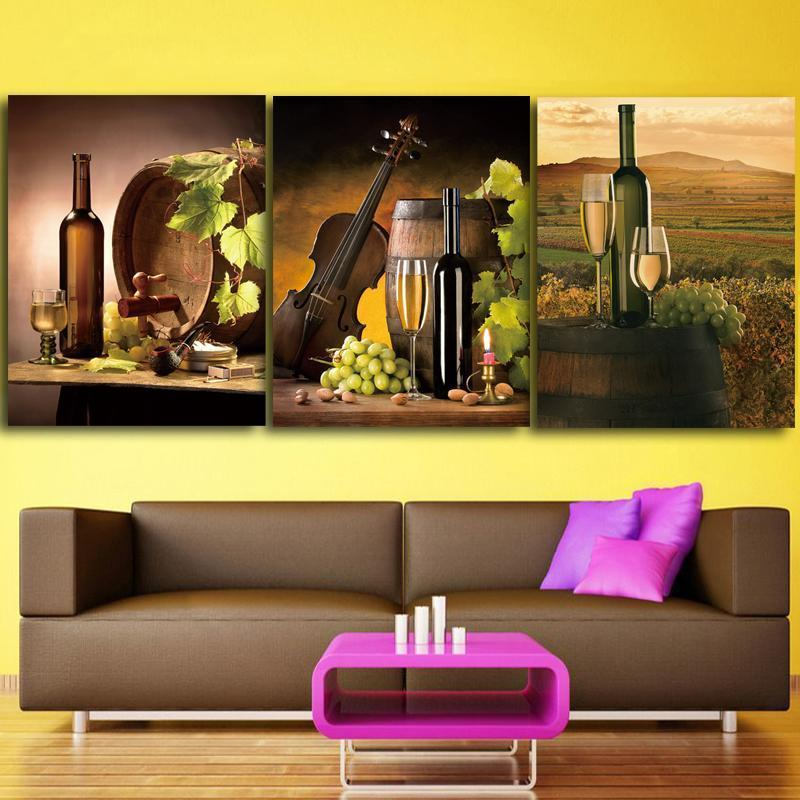 3 Piece Wine Print 23 Canvas Wall Art Sets - It Make Your Day