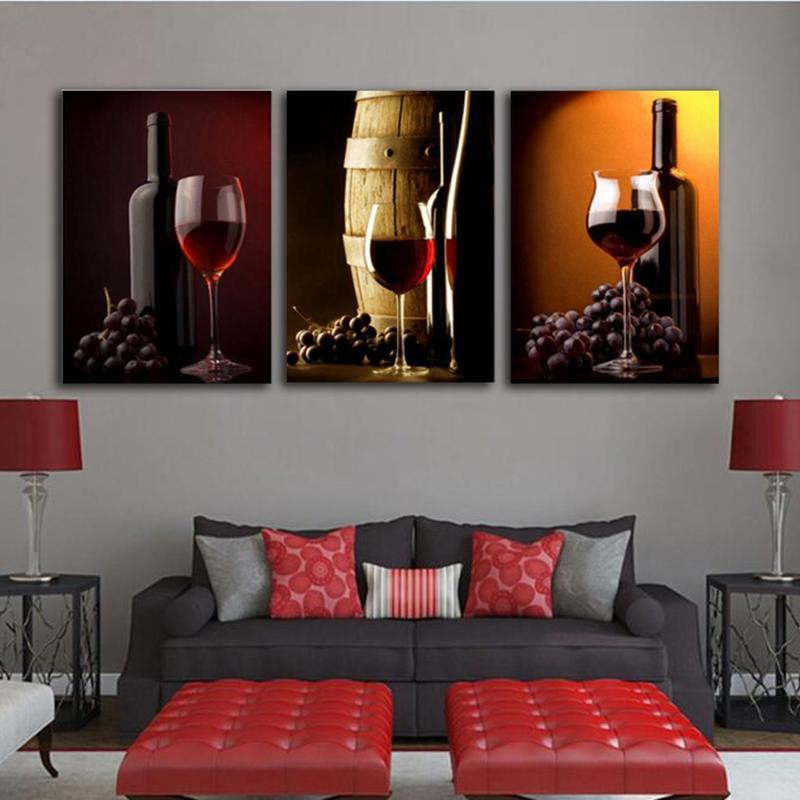 3 Piece Wine Print 19 Canvas Wall Art Sets - It Make Your Day