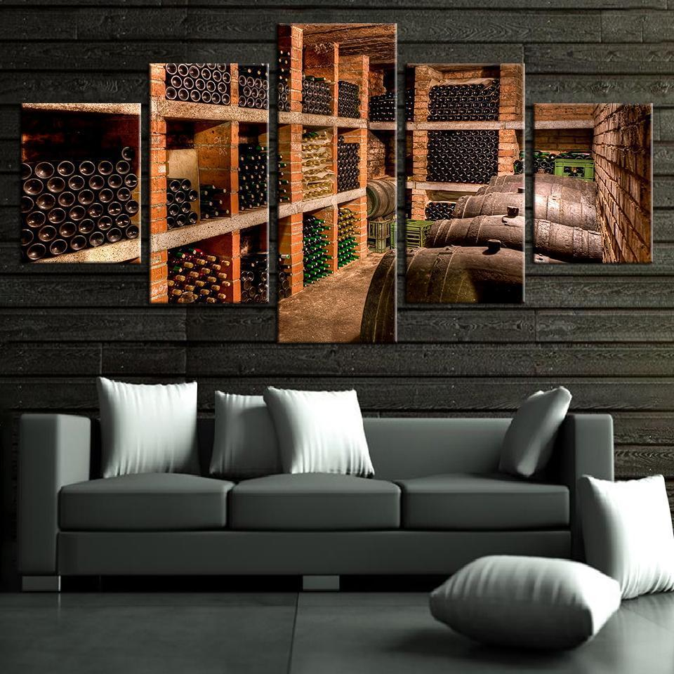5 Piece Wine Print 5 Canvas Wall Art Sets - It Make Your Day