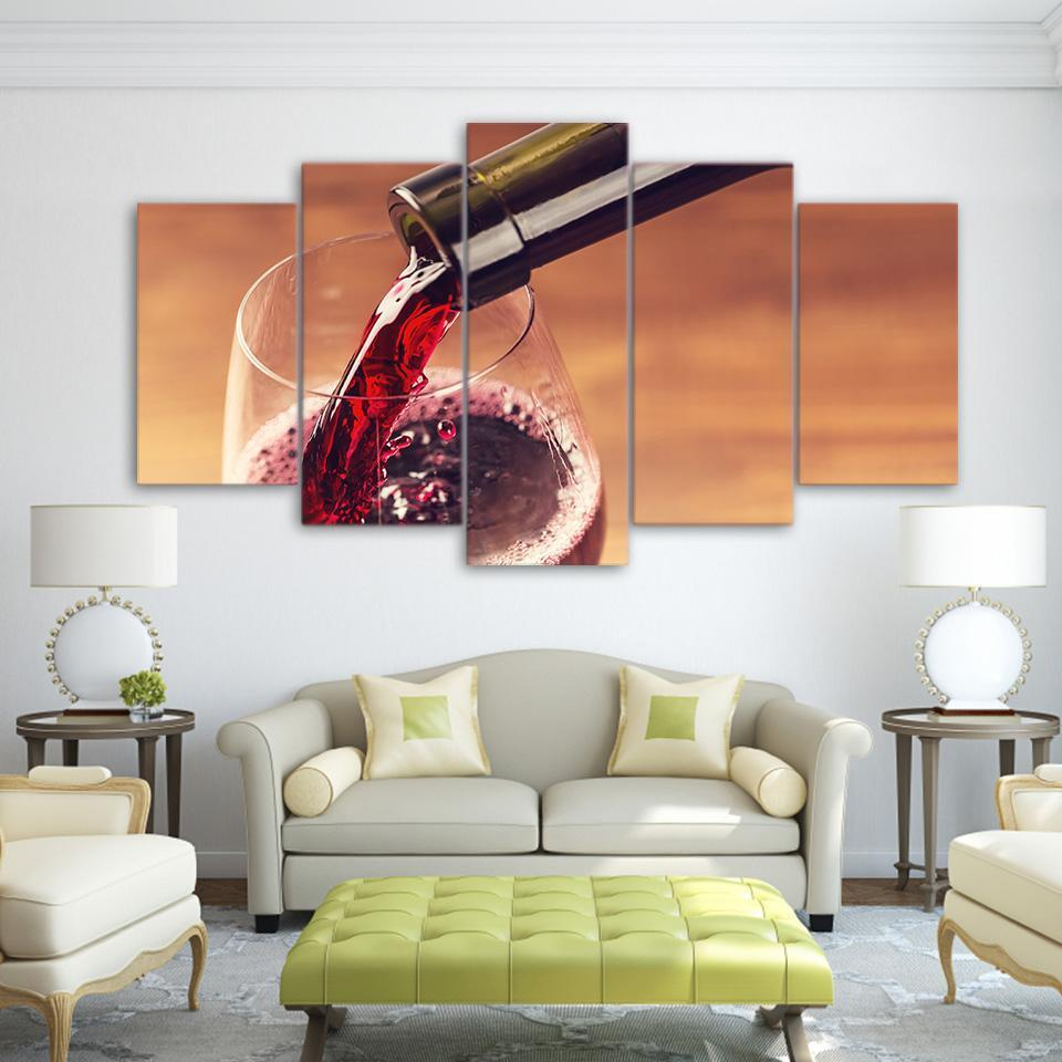 5 Piece Wine Print 6 Canvas Wall Art Sets - It Make Your Day