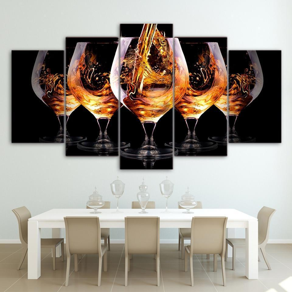 5 Piece Wine Print 8 Canvas Wall Art Sets - It Make Your Day