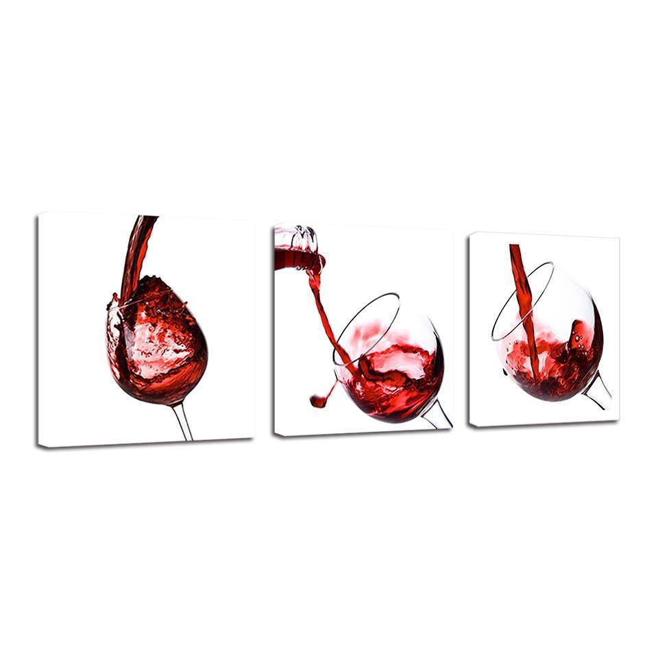 3 Piece Wine Print 20 Canvas Wall Art Sets - It Make Your Day