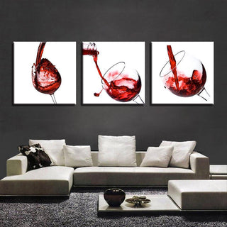 3 Piece Wine Print 24 Canvas Wall Art Sets - It Make Your Day