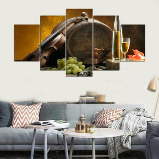 5 Piece Wine Wall Art Print Canvas Wall Art Sets - It Make Your Day