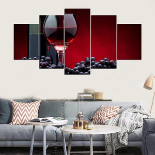 5 Piece Wine Print 10 Canvas Wall Art Sets - It Make Your Day