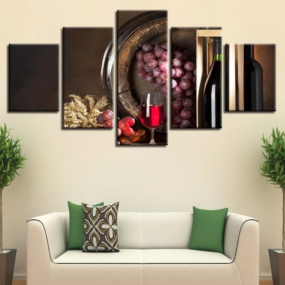 5 Piece Wine Print 11 Canvas Wall Art Sets - It Make Your Day