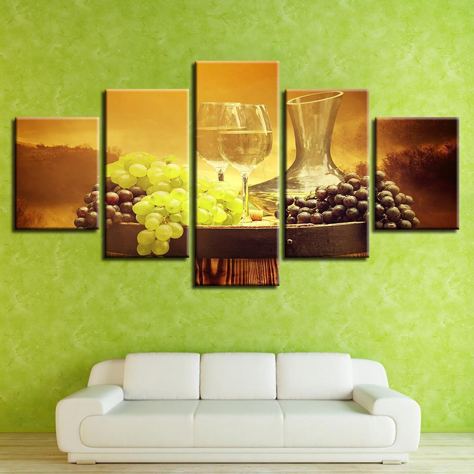 5 Piece Wine Print 16 Canvas Wall Art Sets – It Make Your Day
