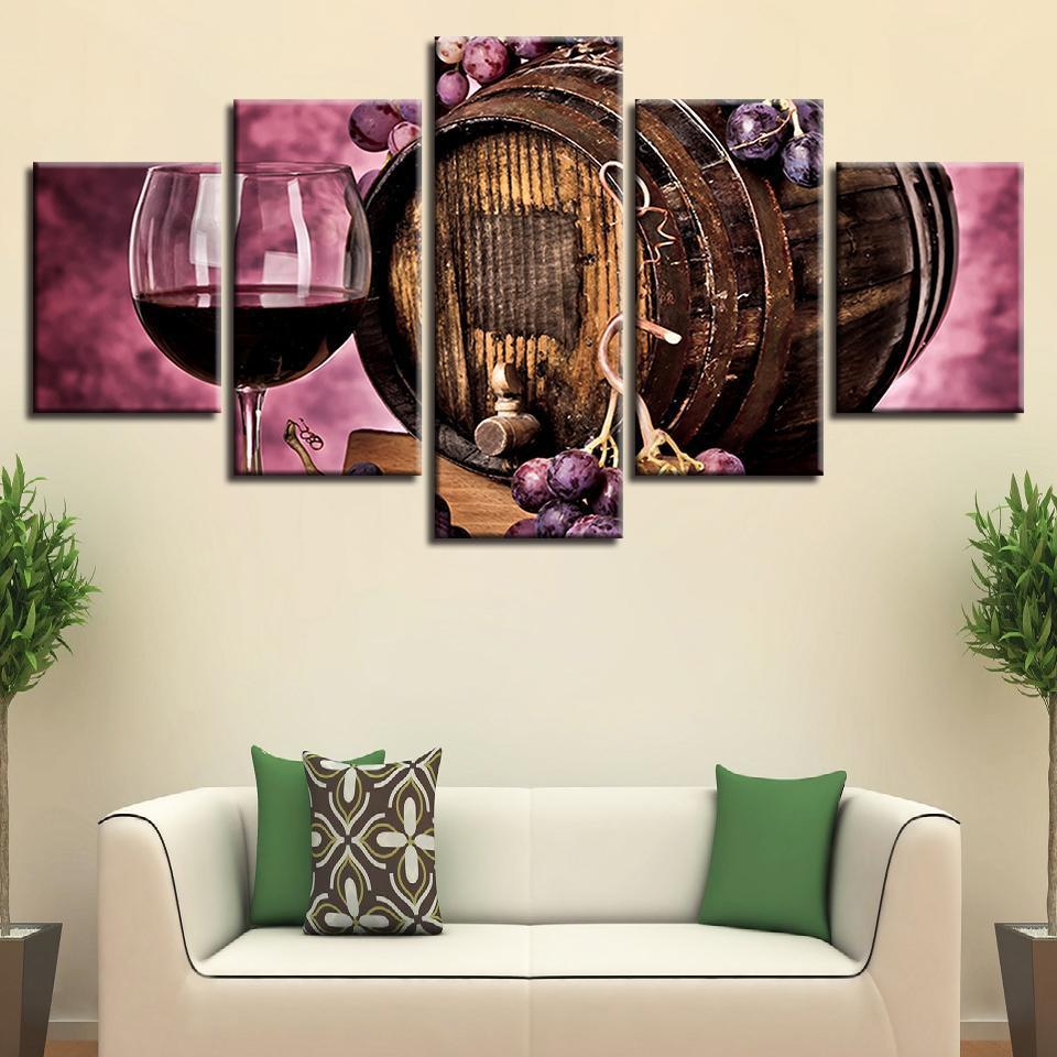 5 Piece Wine Print 17 Canvas Wall Art Sets - It Make Your Day