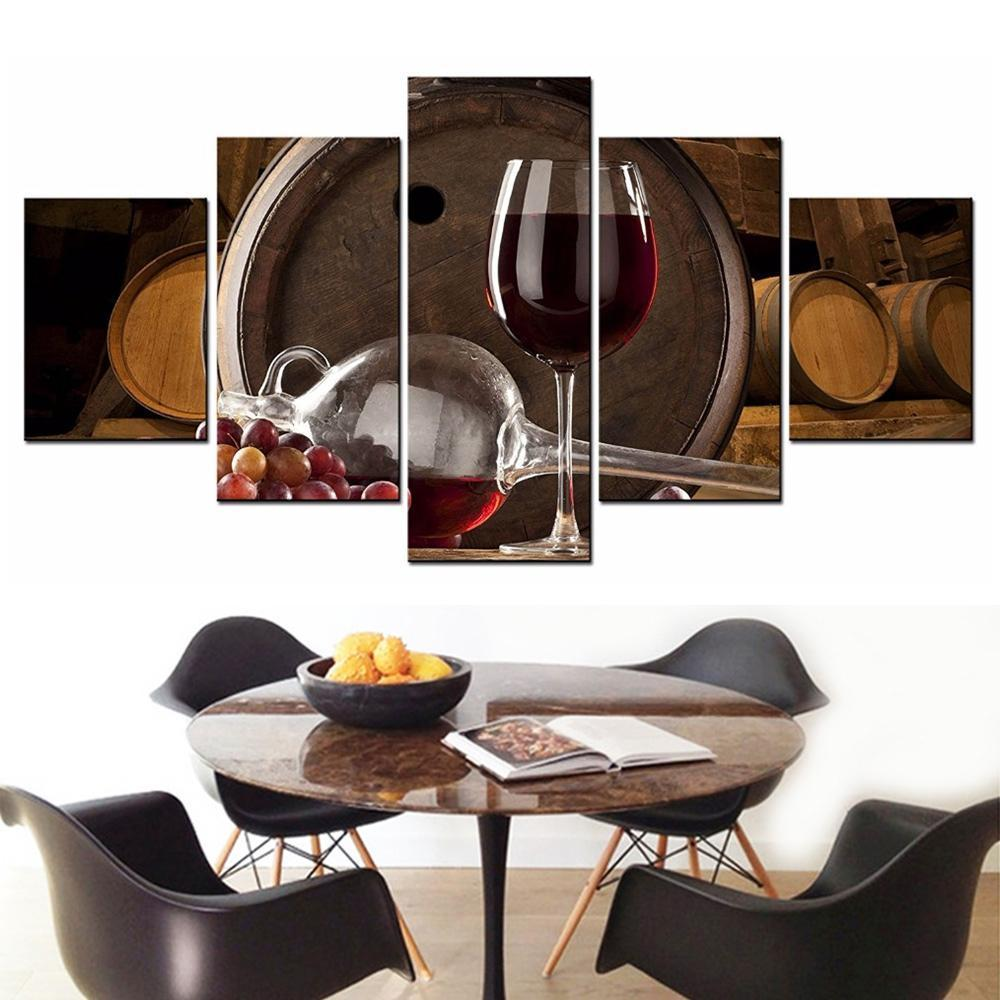 5 Piece Wine Print 18 Canvas Wall Art Sets - It Make Your Day