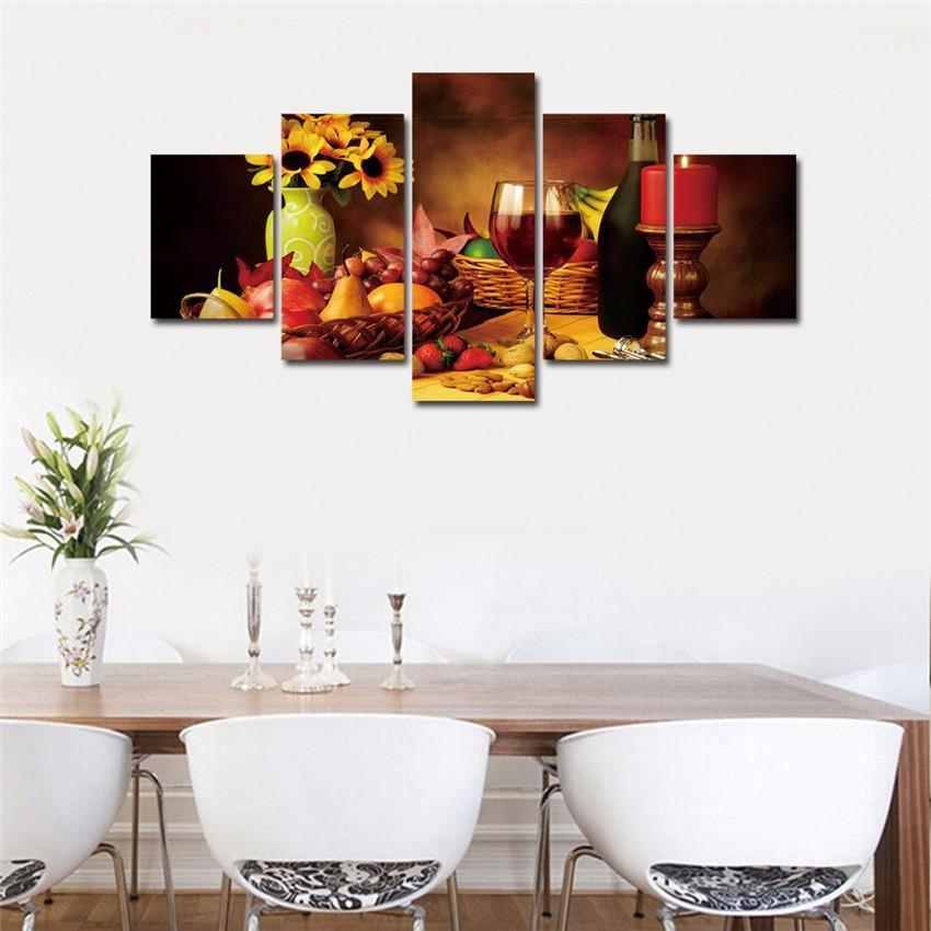 5 Piece Wine HD Print Canvas Wall Art Sets - It Make Your Day