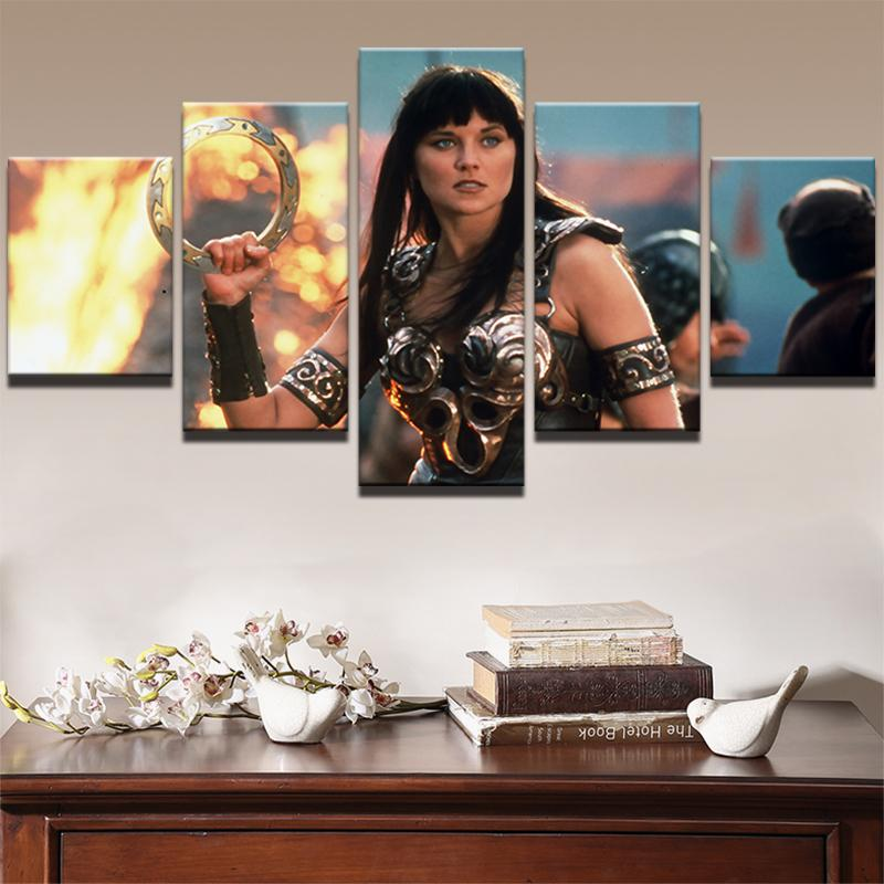 5 Piece Xena: Warrior Princess Movie Canvas Painting Wall Art - It Make Your Day