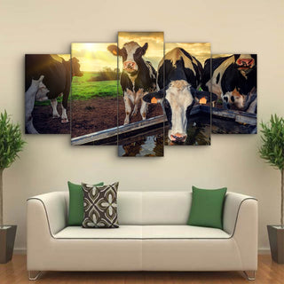 5 Pieces Cow Young Calves Canvas - It Make Your Day