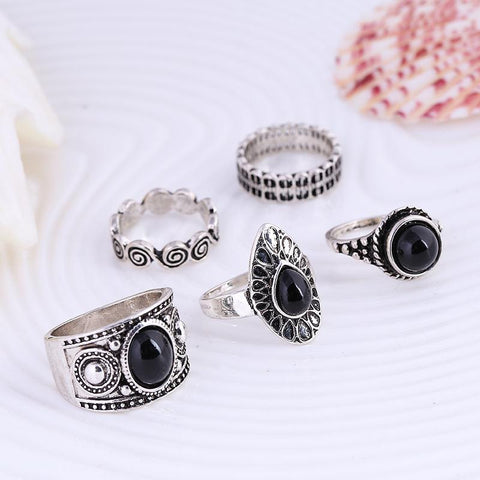Gypsy Queen Ring Set