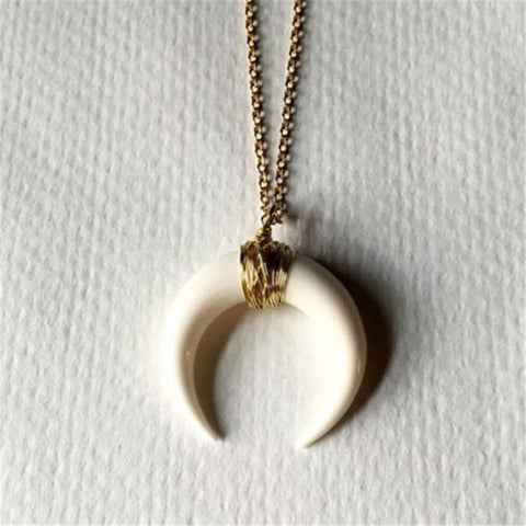 Double Horn - Wild Moon Necklace