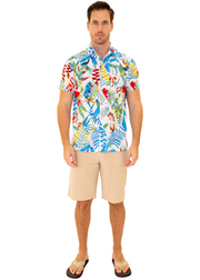 206005 - White Cotton Hawaiian Pocket Shirt
