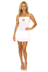 NW1047 - White Cotton Dress